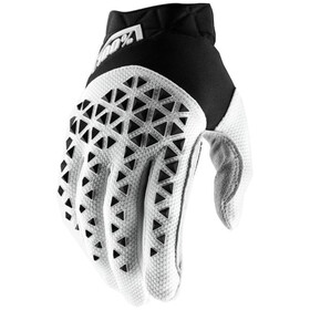 100% Airmatic Guantes, black/white/silver